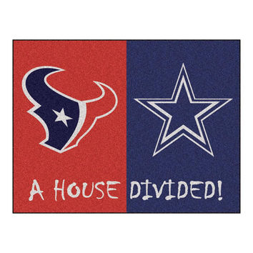 Houston Texans-Dallas Cowboys NFL House Divided NFL All-Star Floor Mat (34x45)