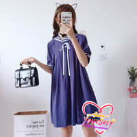 J-fashion Harajuku 3 Colors Cute Sailor Collar Short Sleeve Casual Dress LK18050708 from lolita store