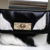 fur leather mini womans satchel bag