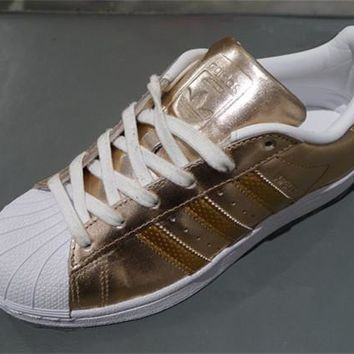 Adidas Superstar Shell toe Rose Gold Casual Sneakers One-nice™