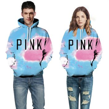 Victoria's Secret PINK Women male 's Fashion Letter Print V-neck Long-sleeves Pullover Tops Sweater