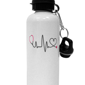 Stethoscope Heartbeat Aluminum 600ml Water Bottle