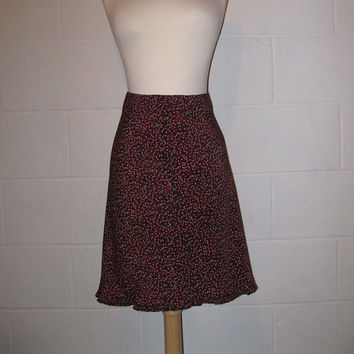 Vintage 90s Floral Skirt / High Waisted Skirt / 29 inch waist / size Small