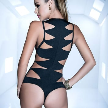 Sexy Bodysuit With Cut Out Back