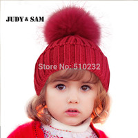 Crochet  Baby Hat 2015 Clearance Costume Beanie Hats with Fur Pelz Top Fitted Kids Accessories Winter Baby Hats Caps Knit hats