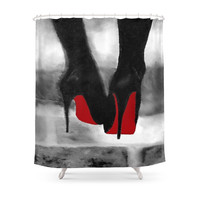 Society6 Such A Lady Shower Curtain