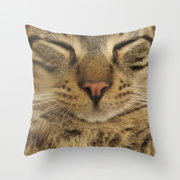 Cat Throw Pillow by Deadly Designer