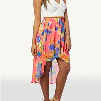 Belted Ponte High Low Dress