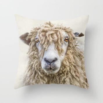 Leicester Longwool Sheep Throw Pillow by Linsey Williams Wall Art, Clothing, And