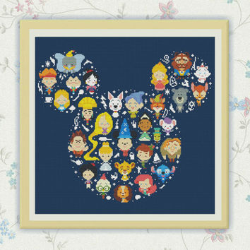 BOGO FREE! Disney Mickey Cross Stitch Pattern, Counted Cross Stitch Pattern,Cross  Chart, Needlecraft Embroidery PDF Instant Download,S095
