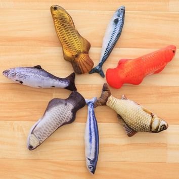 20CM Cat Favor Fish Toy plush Stuffed Fish Fish Shape Cat Toy catnip Scratch Board Scratching Post For Pet Dogs Product Supplies