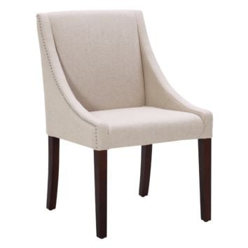 MADDOX DINING CHAIR BEIGE LINEN