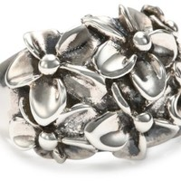 """Zina Sterling Silver """"Hibiscus Collection"""" Floral Cluster Ring"""