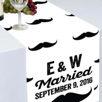 Mustache Themed Printed Cloth Table Runner - PTR104