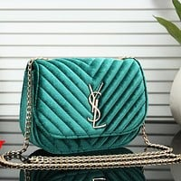 Perfect YSL Yves Saint Laurent Women Fashion Leather Chain Satchel Shoulder Bag Handbag Crossbody