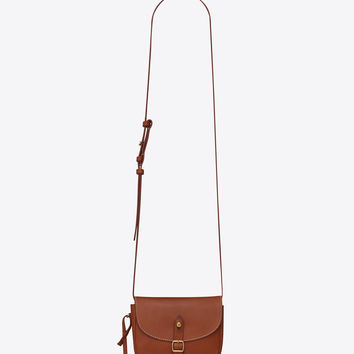 Toy BESACE bag in caramel vegetal leather