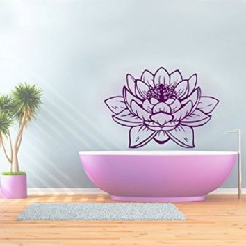 Wall Decals Lotus Flower Pattern Yoga Decal Vinyl Sticker Decor Home Interior Murals Bedroom Studio Dorm Art Murals MN445