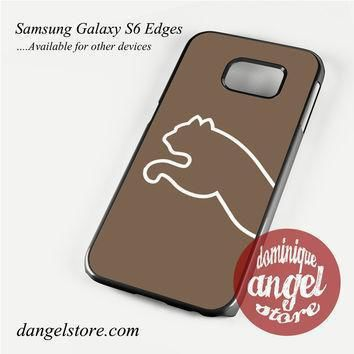 brown puma half logo phone case for samsung galaxy s3 s4 s5 s6 s6 edge s6 edge plus  number 1