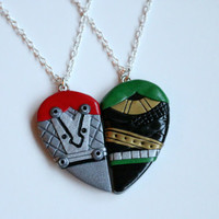Thor and Loki Friendship Necklaces or Keyrings