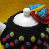 Crochet Pattern Tea Cosy Polka Dots PDF