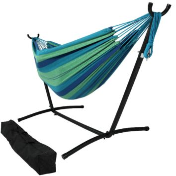 Sunnydaze Decor Beach Oasis Hammock with Adjustable Stand