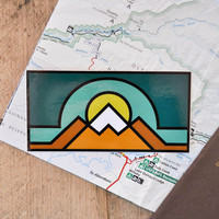 Vinyl Sticker - Geo Mountains