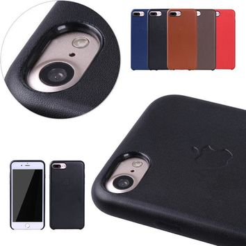 Luxury Original Leather Case Cover thin for Apple iPhone 6 6S 7 8 Plus