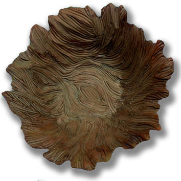 Chocolate brown earthenware bowl