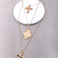 Baroque Layered Rosary Necklace