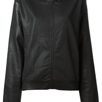 MM6 By Maison Martin Margiela waxed finish hoodie