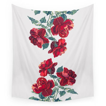 Society6 Red Roses Wall Tapestry