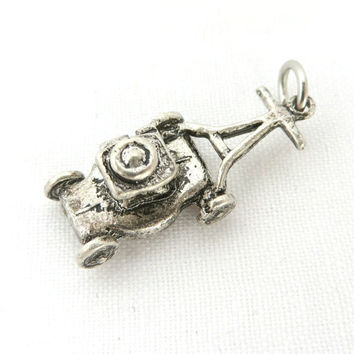 Vintage Sterling Silver Lawn Mower Charm