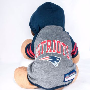 New England Patriots Hoodie Dog Shirt NFL Football Official License Pet Product