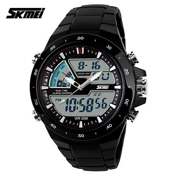 Waterproof Sports Watches For Men Relogio Masculino Hot Sell Men Silicone Sport Watch Reloj S Shockproof Electronic Wristwatch