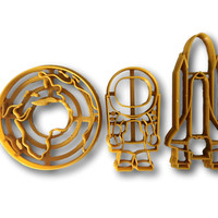 Space Theme Cookie Cutter Set