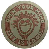 "Life is good. 4"" Sticker - Open Your Mind - Green"