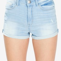 Mia Light Wash Denim Shorts