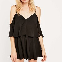 The Fifth Daylight Playsuit in Black - Urban Outfitters