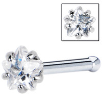 18 Gauge Clear Star Cubic Zirconia Nose Bone | Body Candy Body Jewelry