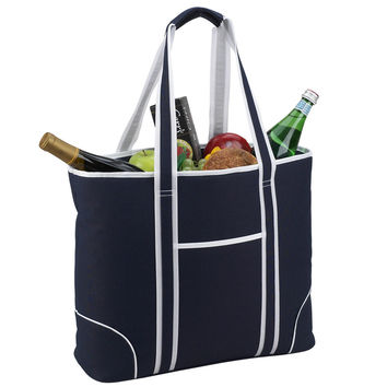 Extra Large Insulated Cooler Tote   Navy