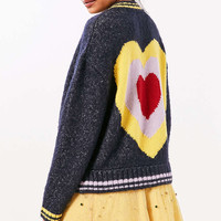 Ecote Icon Bomber Sweater - Urban Outfitters