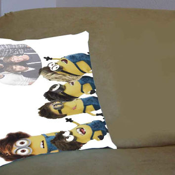 despicable me minion one direction - Pillow Case, Pillow Cover, Custom Pillow Case **