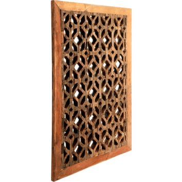 Lattice Wood Decorative Mirror