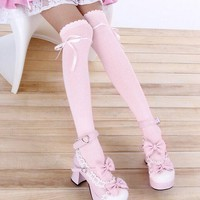Lolita Japanese Bow Knee Socks SD00078
