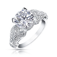 Bling Jewelry Victorian Love Ring