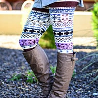 TIS THE SEASON LAVENDER LEGGINGS - Default Title