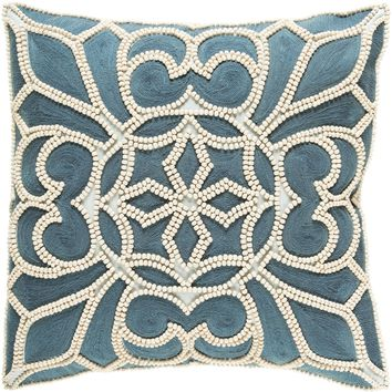 Pastiche Throw Pillow Blue, Neutral