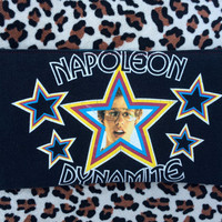 NAPOLEON DYNAMITE - Upcycled Concert/ Band T-shirt Makeup/ Pencil Pouch - ooak