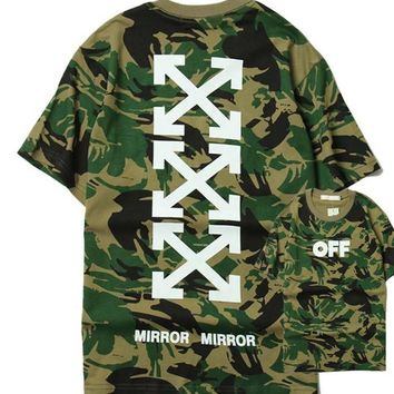 Couple Tops Camouflage Short Sleeve T-shirts [211460161548]