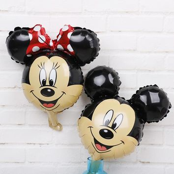 10pc Mini Mickey mouse birthday decorations Foil Balloons Disney Cartoon Air Baloes minnie mouse baby shower Party supplies Toys